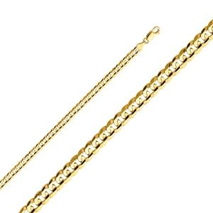 14k Yellow 4.8mm Cuban Concave Chain - 22""